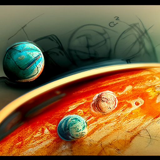 'a sketch of planets' CLIP Guided Diffusion v6 Text-to-Image