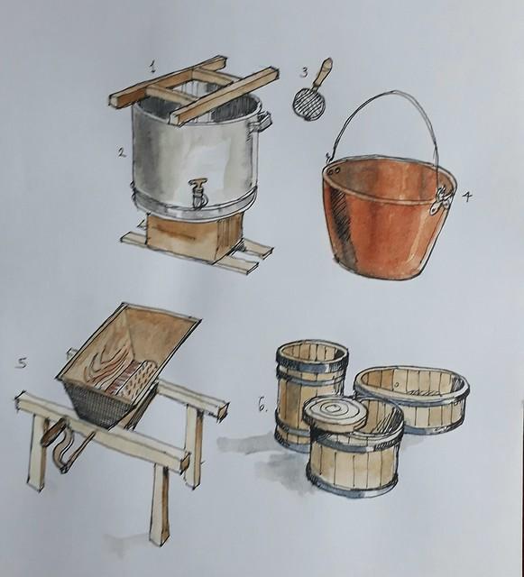 Cheese making utensils