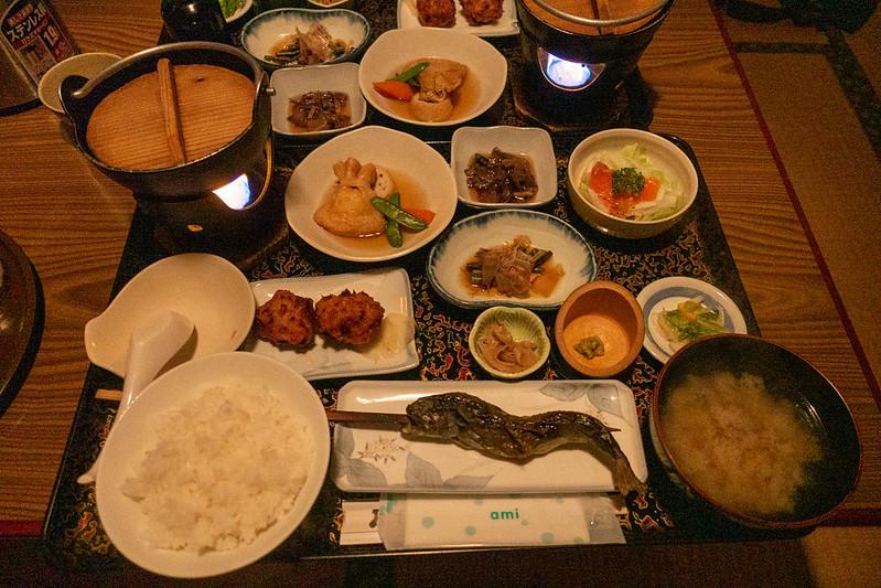 青荷温泉の夕食