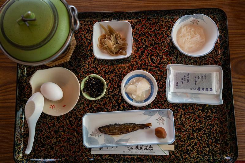 青荷温泉の朝食