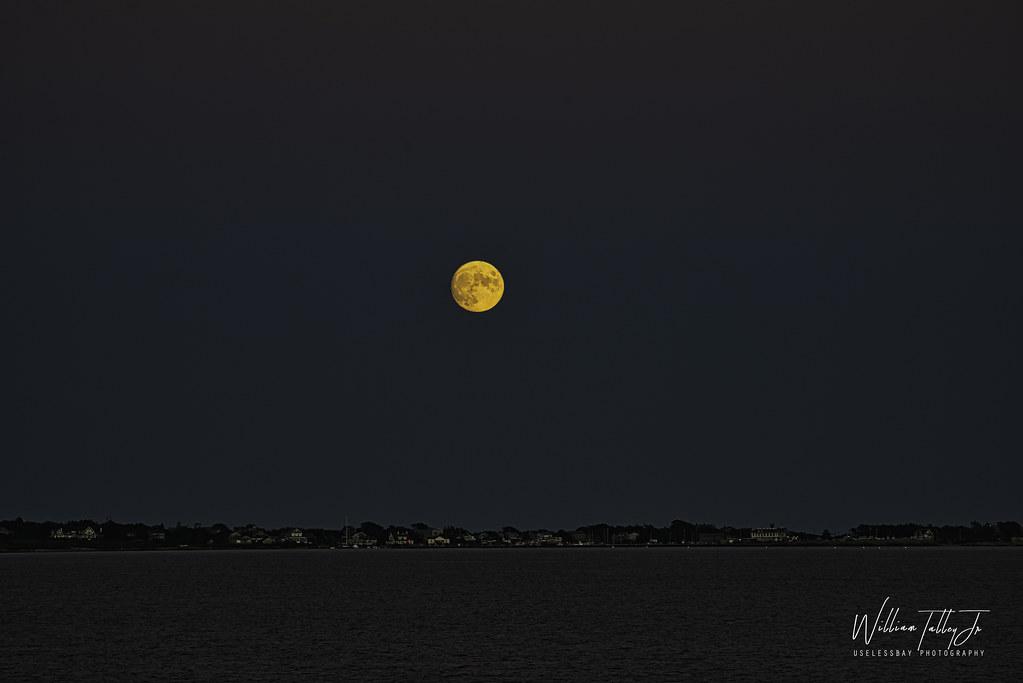 Moon Over Sachuest Point  2021/ 93:365