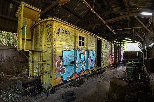 Yellow ghost train