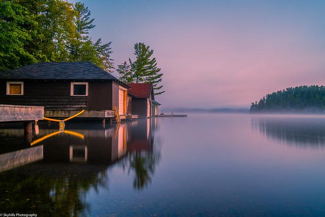 Mary Lake long exposure.