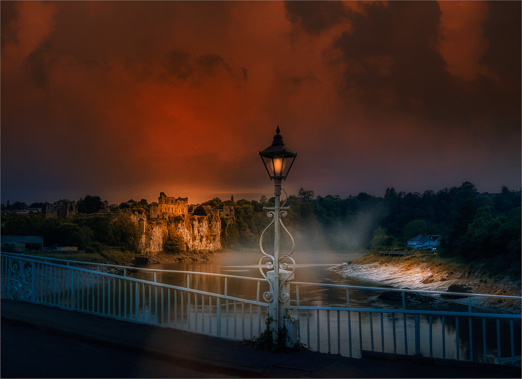 Chepstow Castle at Sunset-8751