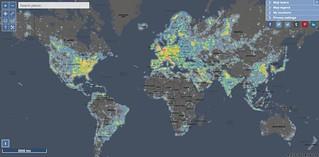 La mappa dei luoghi migliori per osservare le stelle