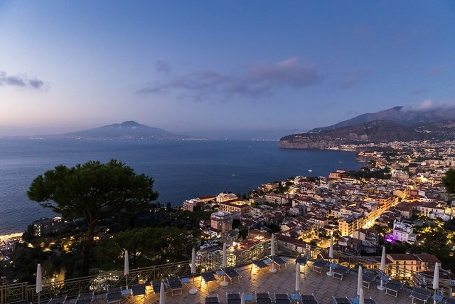 Blue hour in Sorrento, Italy