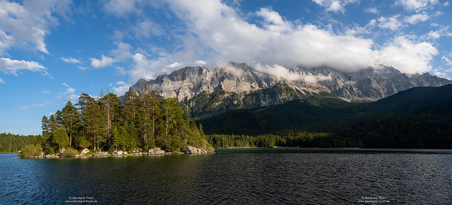 Evening panorama at Eibsee