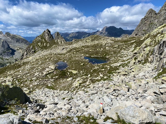 Two tiny mountain lakes