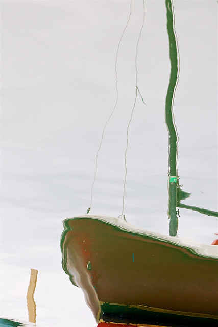 Red Sailboat Reflection