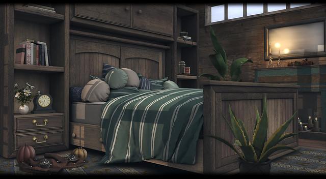 Ayla Shelves Bed