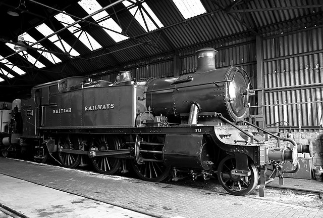 GWR Large Prairie Tank Locomotive No.4144 at Wansford, visiting from Didcot Railway Centre. Nene Valley Raiway. 22 08 2021