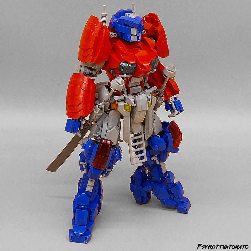 Lego optimus mech samurai style psyrottuntomato