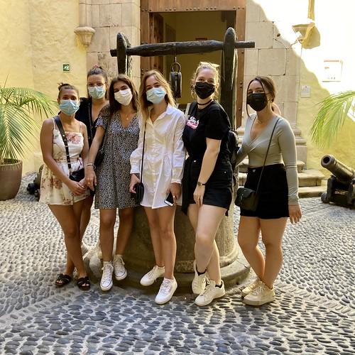 Estudiantes francesas en Vegueta