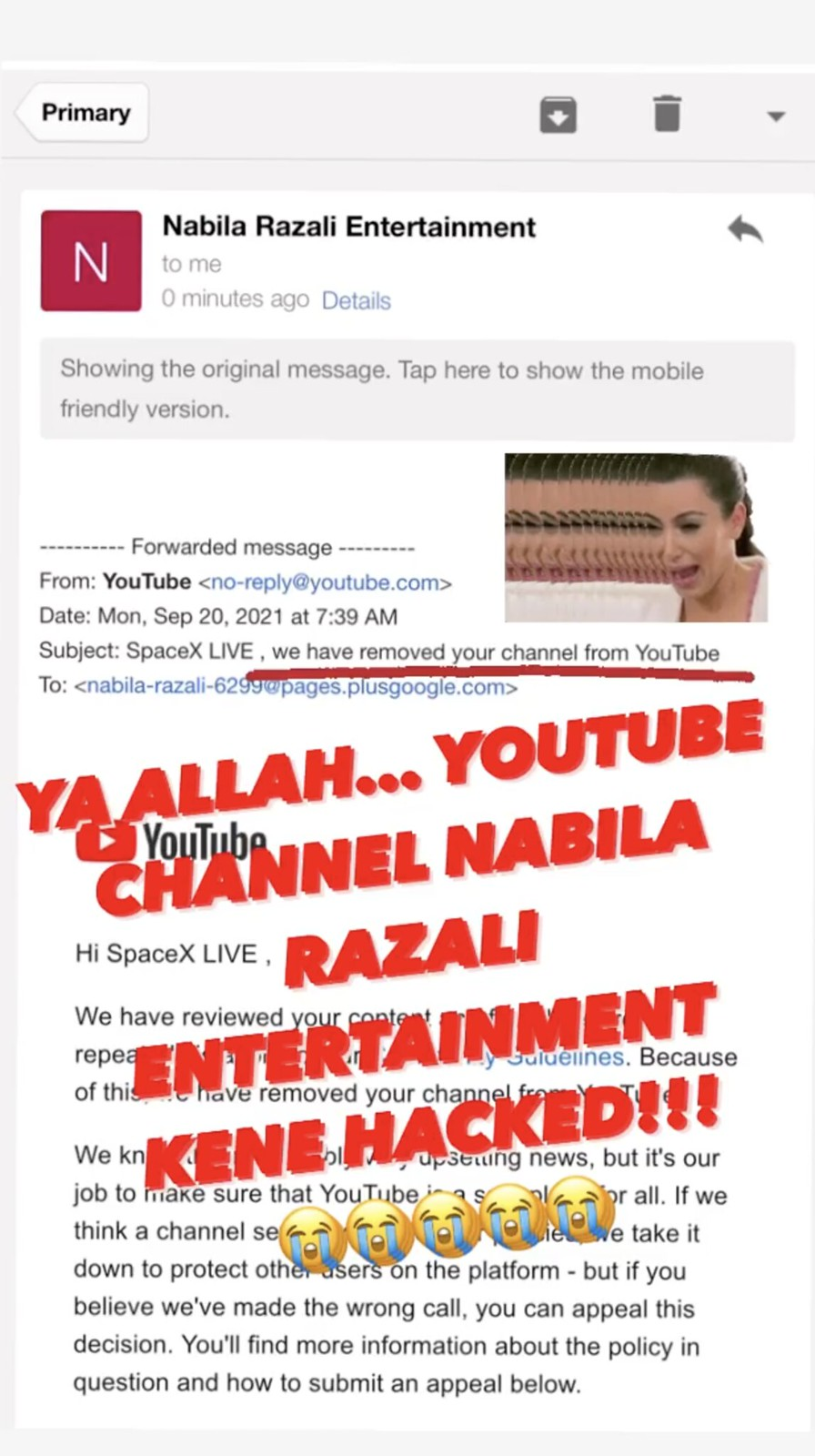 Saluran Youtube Nabila Razali Digodam, Video Peluang Kedua Bersama Mk Hilang