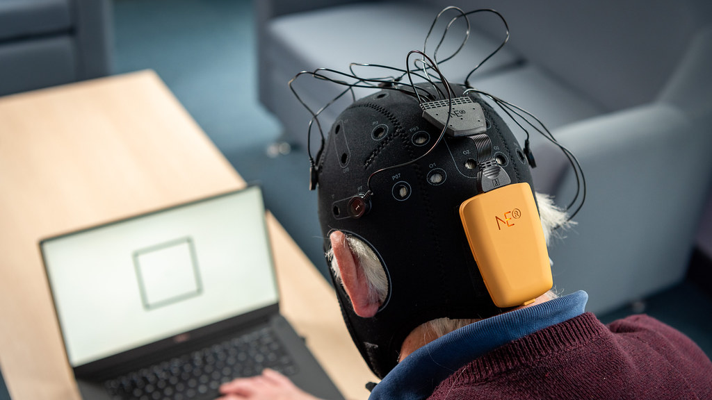 Fastball EEG - a completely passive test for Alzheimer's disease, being developed by Dr George Stothart at the University of Bath.