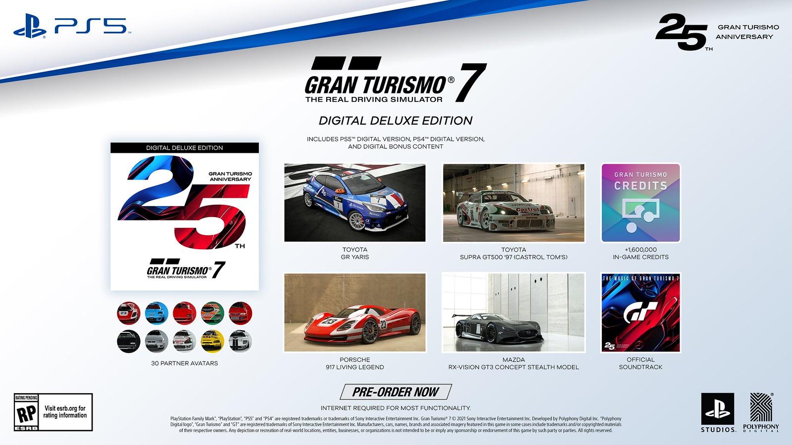 Gran Turismo 25th Anniversary Digital Deluxe Edition