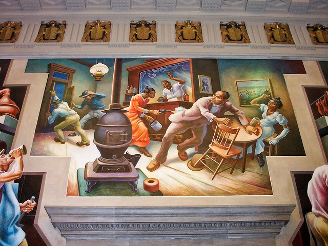 Jefferson City - Missouri - State Capitol - Frankie and Johnny -  Reception Room - United States