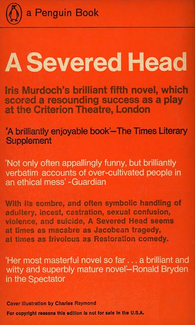 Penguin Books 2003 - Iris Murdoch - A Severed Head (back)