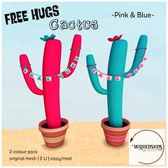 Widdershins - Free Hugs Cactus [Pink & Blue]