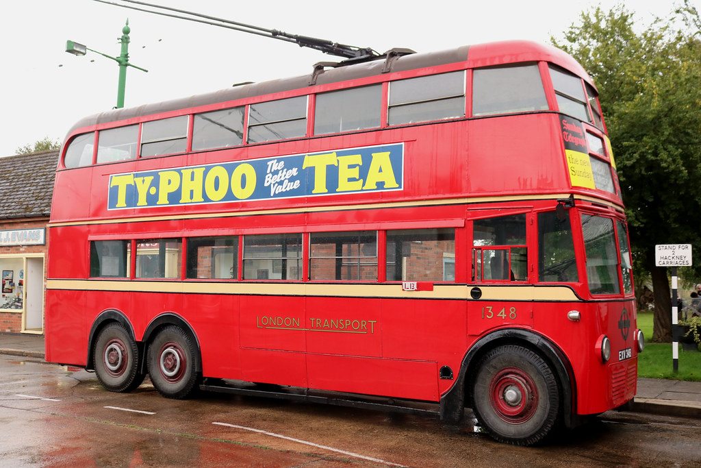 Trolleybus: London Transport: 1348 EXV348 Leyland