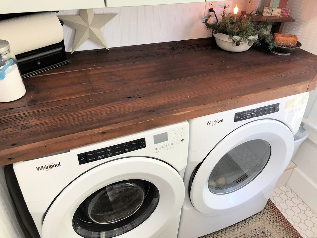rustic wooden counters