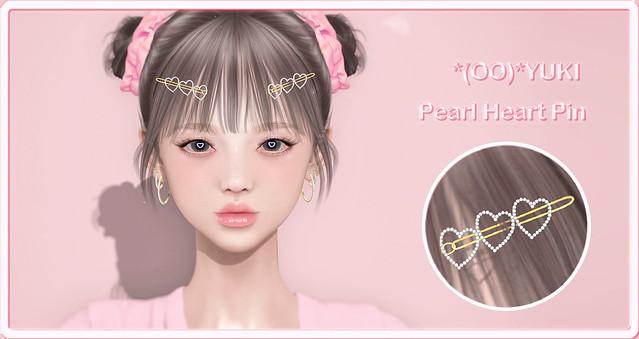 *(OO)*YUKI Pearl Heart Pin @ The Warehouse Sale