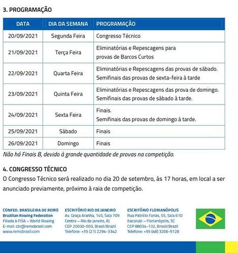 Calendário do Campeonato Brasileiro de Remo