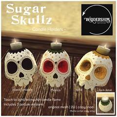 Widdershins - Sugar Skullz Candle Holders
