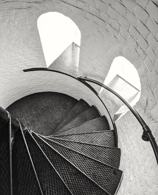 Stair detail, Presque Isle Lighthouse