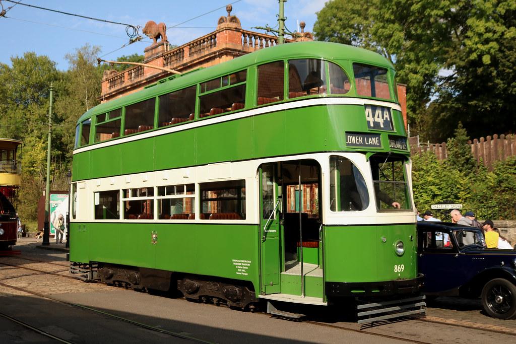 Trams: Liverpool Corporation: 869 Crich Tramway Village