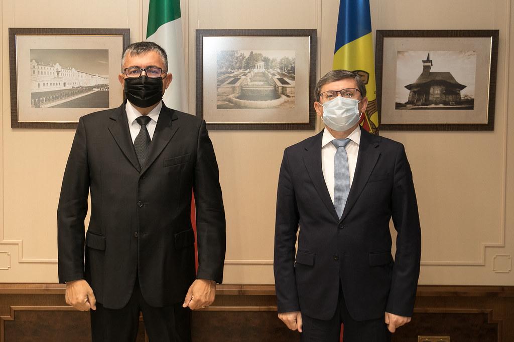 21.09.2021 - Întrevederea Președintelui Parlamentului, Igor Grosu, cu Ambasadorul Italiei în Moldova, Lorenzo Tomassoni