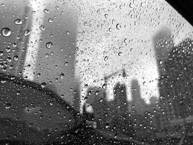 Driving in the Rain in New York