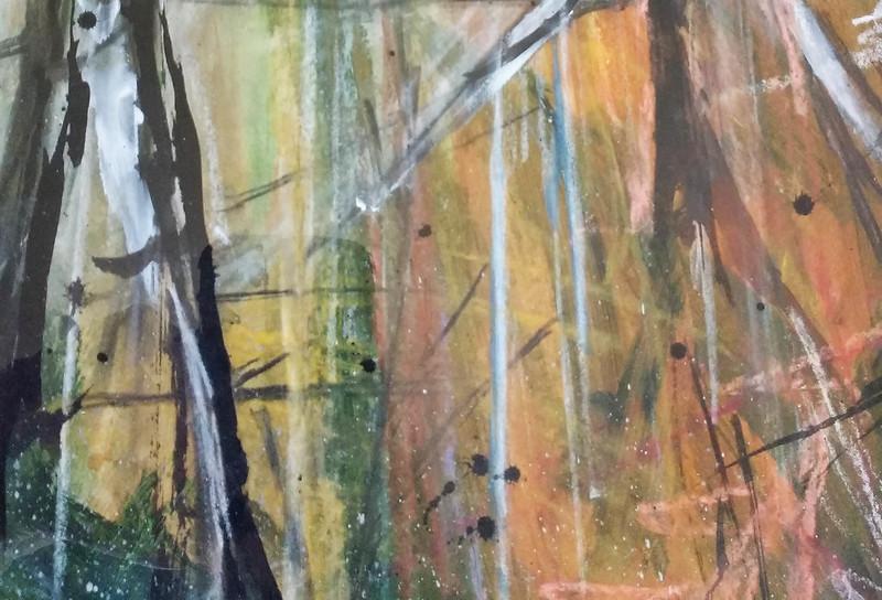Trees_9_mixed_media_by_Gillian_Hebblewhite