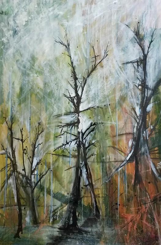 Trees_6_mixed_media_by_Gillian_Hebblewhite