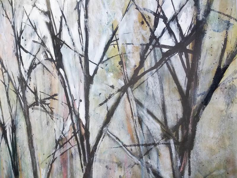 Trees_3_mixed_media_by_Gillian_Hebblewhite