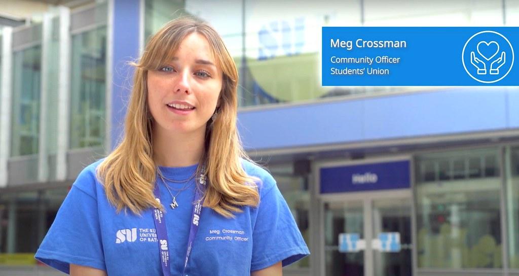 Meg Crossman, SU Officer, explains the safety measures on campus