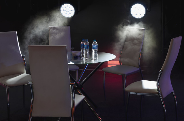 Table and chairs_light and smoke