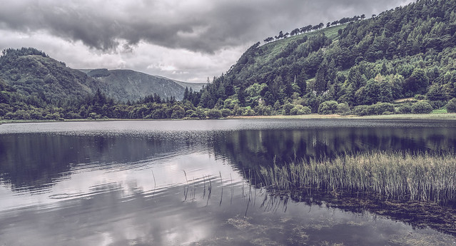 Lower lake.Glendalough valley.Ireland