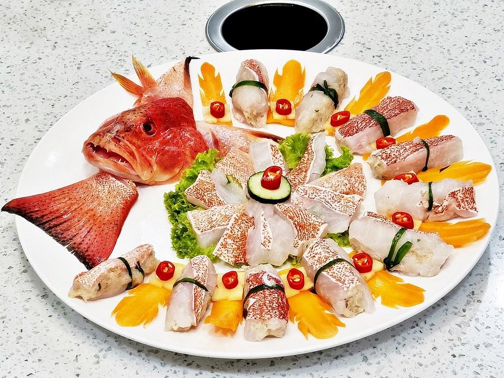 Red Garoupa Fish Stuffed With Prawn Paste