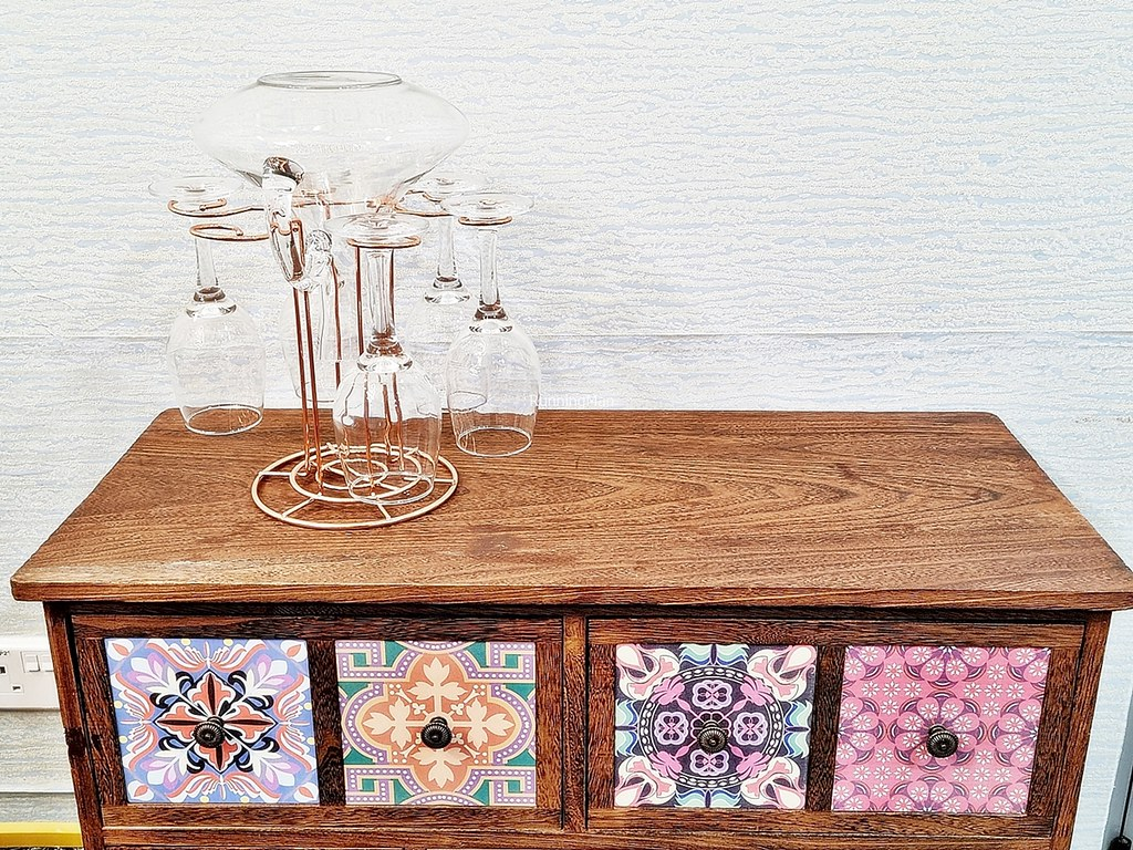 Decorated Cabinet With Decanter