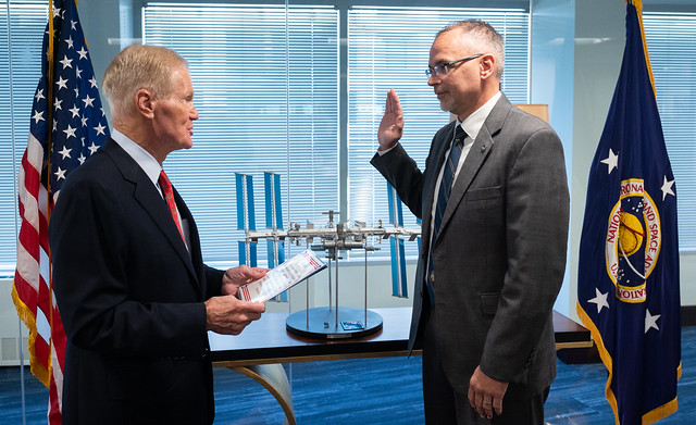Jim Free Sworn In as AA for ESDMD (NHQ202109200001)