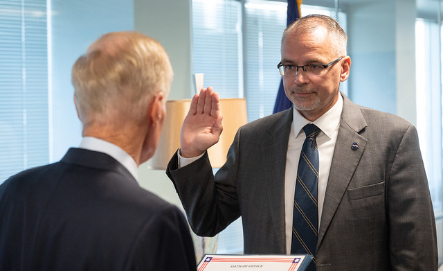 Jim Free Sworn In as AA for ESDMD (NHQ202109200002)