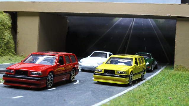 Volvos & Porsches on the Bypass.