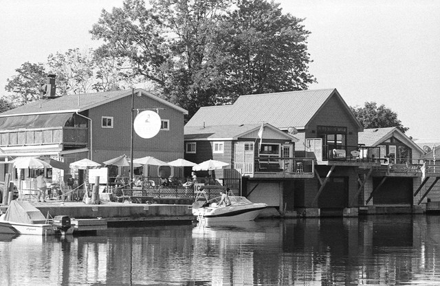 Patio Boathouses and Powerboat