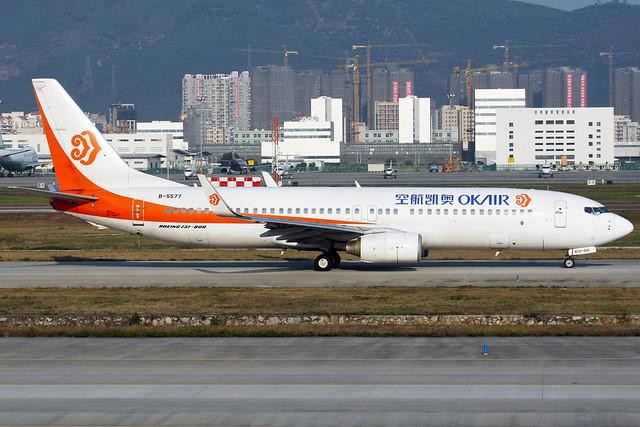Okay Airways | Boeing 737-800 | B-5577 | Shenzhen Baoan