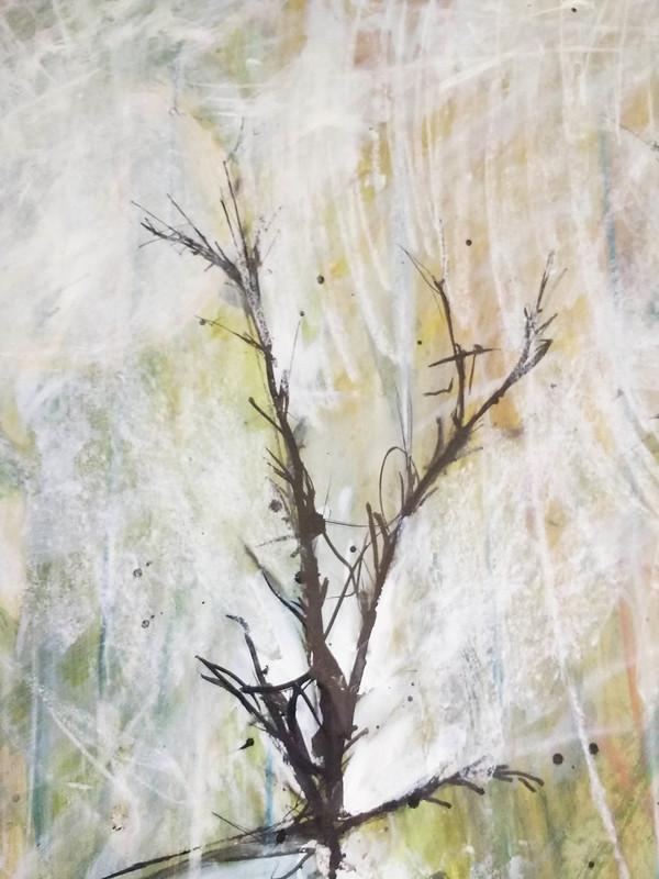 Trees_10_mixed_media_by_Gillian_Hebblewhite