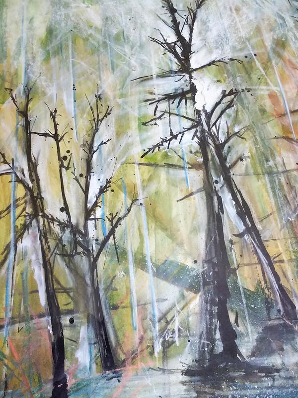 Trees_8_mixed_media_by_Gillian_Hebblewhite