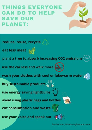 Things everyone can do to help save our planet. From Linking Human Rights to Climate Change