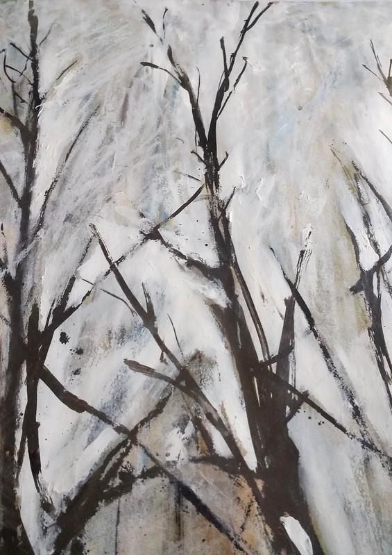 Trees_5_mixed_media_by_Gillian_Hebblewhite