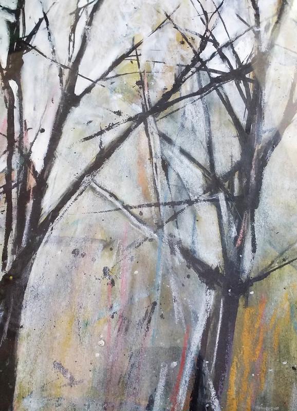 Trees_4_mixed_media_by_Gillian_Hebblewhite